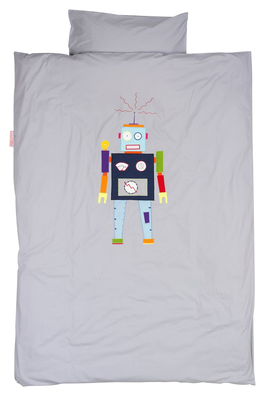 Taftan Duvet Cover Set 100 x 135cm for Cot (Robot Grey) BabyCenter DS-3910