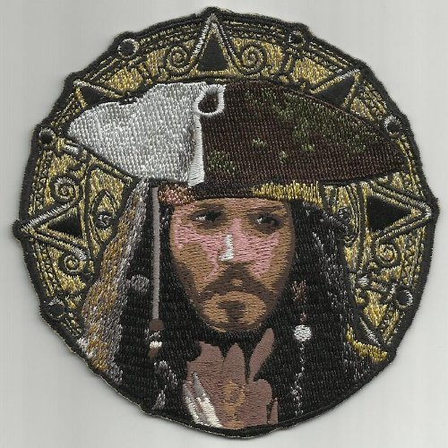 001 Pirates of the Caribbean Johnny Depp Captain Jack Sparrow New Patch 4 Inches Discontinued -