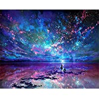 iDream Home Decoration 5D Diamond Painting Rhinestone Fantacy Star DIY Mosaic Wall Decor (20cm x 25cm)