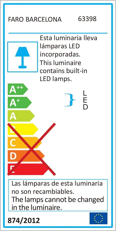 Faro 63398 AMI LED Lampe plafond aluminium