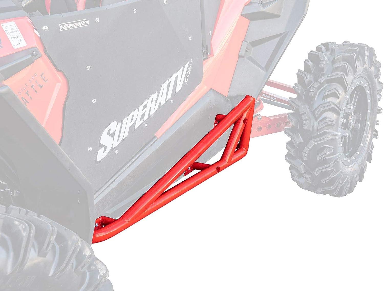 Super ATV Black Heavy Duty Rock Slider Nerf Bars Polaris RZR XP 900