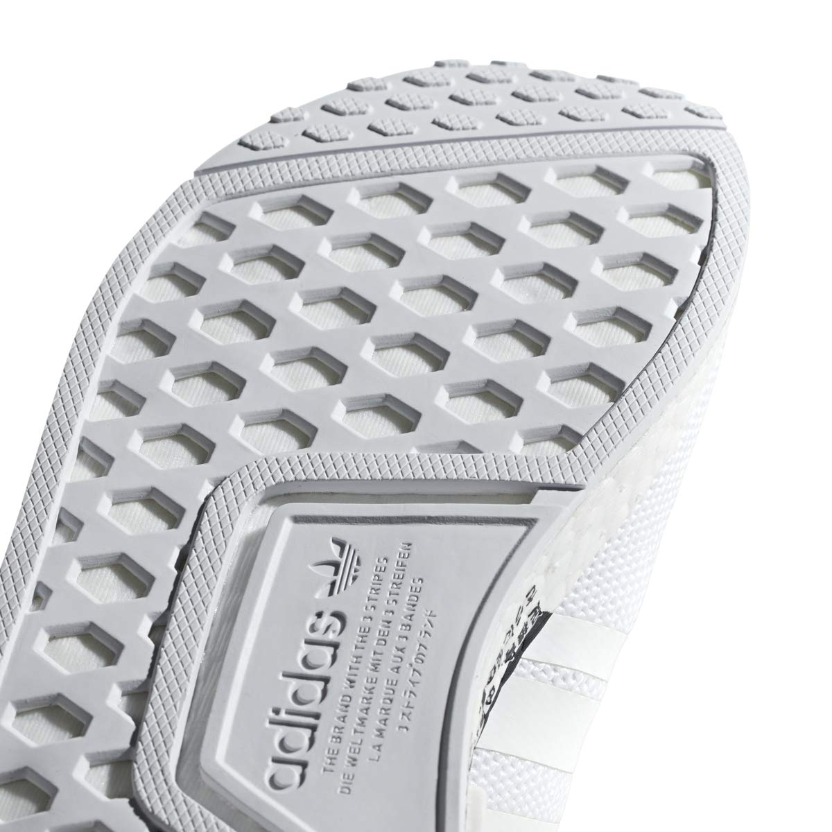 adidas Originals Unisex NMD_R1 Running Shoe, White/Orchid Tint, 6 M US Big Kid