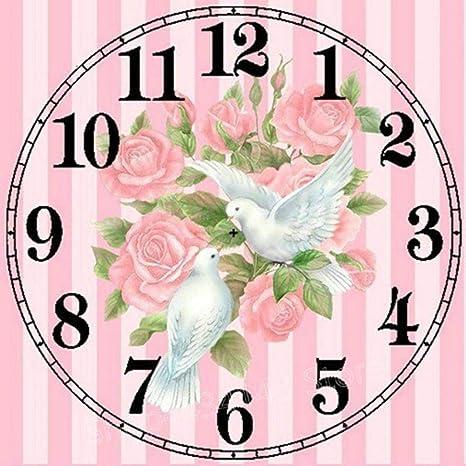 Matefield 5D Bricolaje Taladro Completo Pintura Diamante Paloma Reloj Punto de Cruz Kit de Bordado