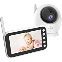 Mia Bambina Colour Video Baby Monitor Camera ABM100 with 11cm LCD Display Screen | Infrared Night Vision Mode | Two way Intercom | Crying Detection | Lullaby | Touch button 2 way wireless baby monitoring camera | Night vision | Crying, sound and temperature monitor| Breastfeeding reminder