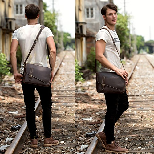 Men's Three Various Travel Dark Women's Outer Leather Styles Natural layer Brown Sizes Bags Backpack Casual Computer wXqa1WSEA