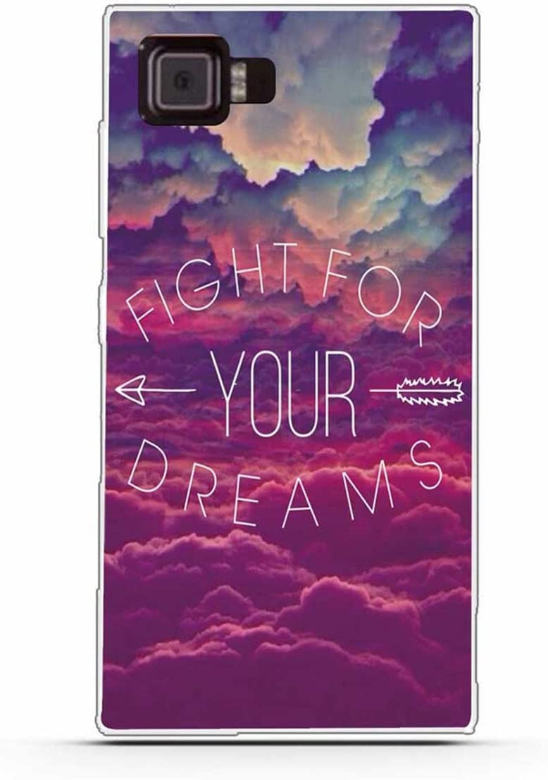 "Lenovo Vibe Z2 Case,Gift_Source Slim Thin Soft TPU Silicone Gel Rubber Anti-Scratch Shockproof Phone case Flexible Cute Clear Bumper Protective Cover for Lenovo Vibe Z2 (5.5"") [Fight for Your Dreams]"