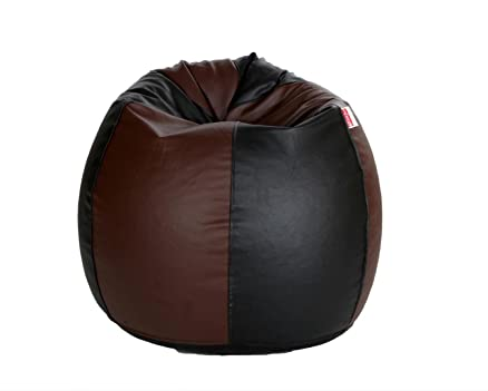 Comfy Bean Bags XXXL Bag Filled With Beans Filler Black And Brown
