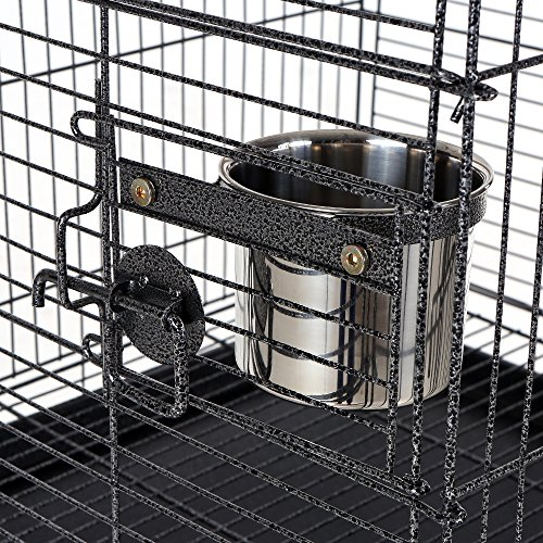 iKayaa-Large-Bird-Parrot-Cage-Macaw-Cockatoo-Lockable-Stainless-Steel-Birdcages