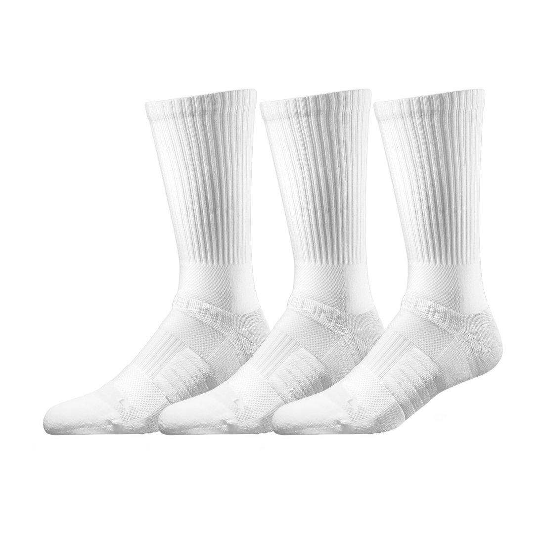 Strideline Standard Issue Crew 3-Pack, One Size, Standard, White N013330
