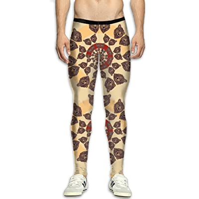 Christmas Running Leggings.Bear Animal Compression Pants Running Tights Gym Tights For