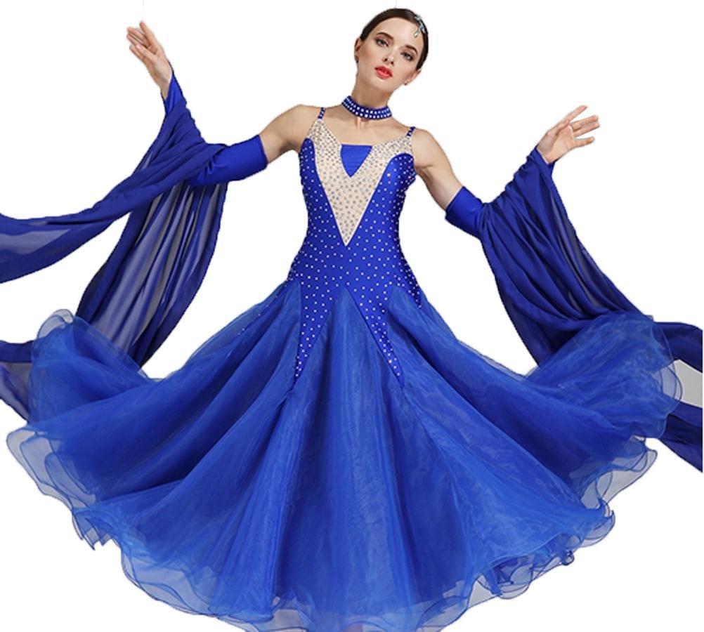 MoLiYanZi Moderne Tanzkleider für Frauen Schultergurte Schlank Schlank Schlank Wettbewerb Tanz-Outfit Strass Große Schaukel B07BHNQS58 Bekleidung Hervorragende Funktion c8a8a6