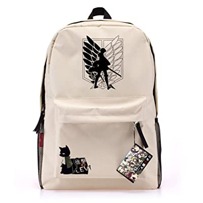 50%OFF Rain's PanAnime Attack on Titan Recon Corps Cosplay Oxford Laptop Bag Backpack