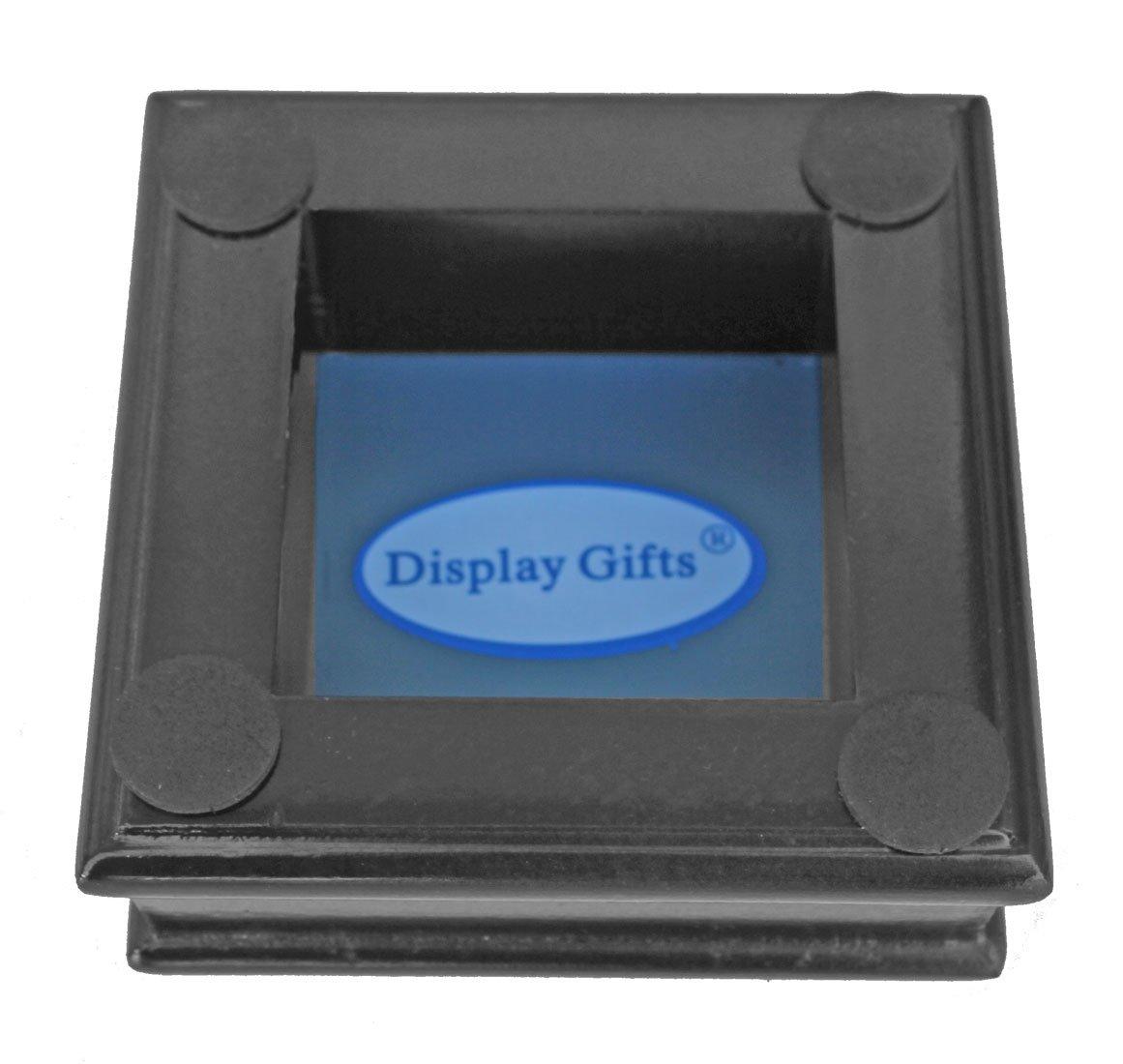DisplayGifts Pro UV Baseball Display Case Holder Stand (Black)