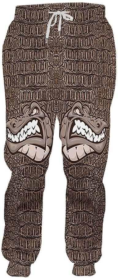 Gengemter Pantalones de chándal para Mujer, diseño de cocodrilo ...