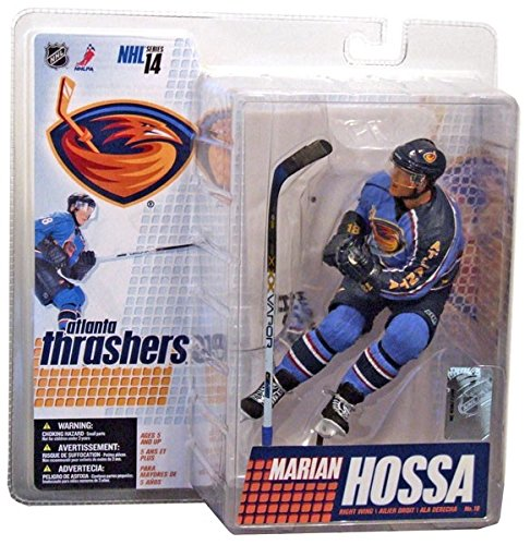 McFarlane Toys NHL Sports Picks Series 14 Action Figure Marian Hossa (Atlants Thrashers) Blue Jersey ()