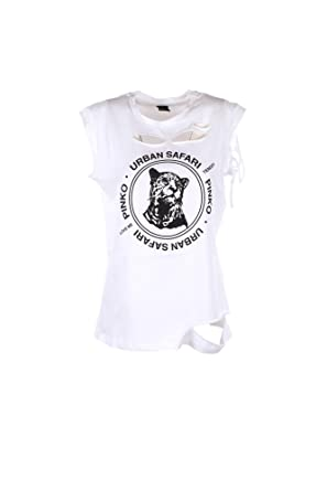 cc45447e3817 Pinko T-Shirt Donna L Bianco/Nero Clare Primavera Estate 2018:  Amazon.co.uk: Clothing
