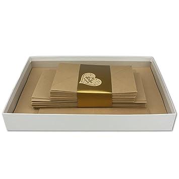 Briefkassette 120 Teilig Kraftpapier 50 Briefbogen Din A4 30