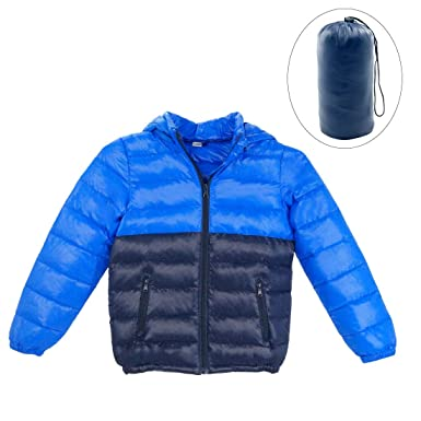 77e1ed5ef0ef Amazon.com  Happy Cherry Boys Down Winter Coat Thin Warm Removable ...