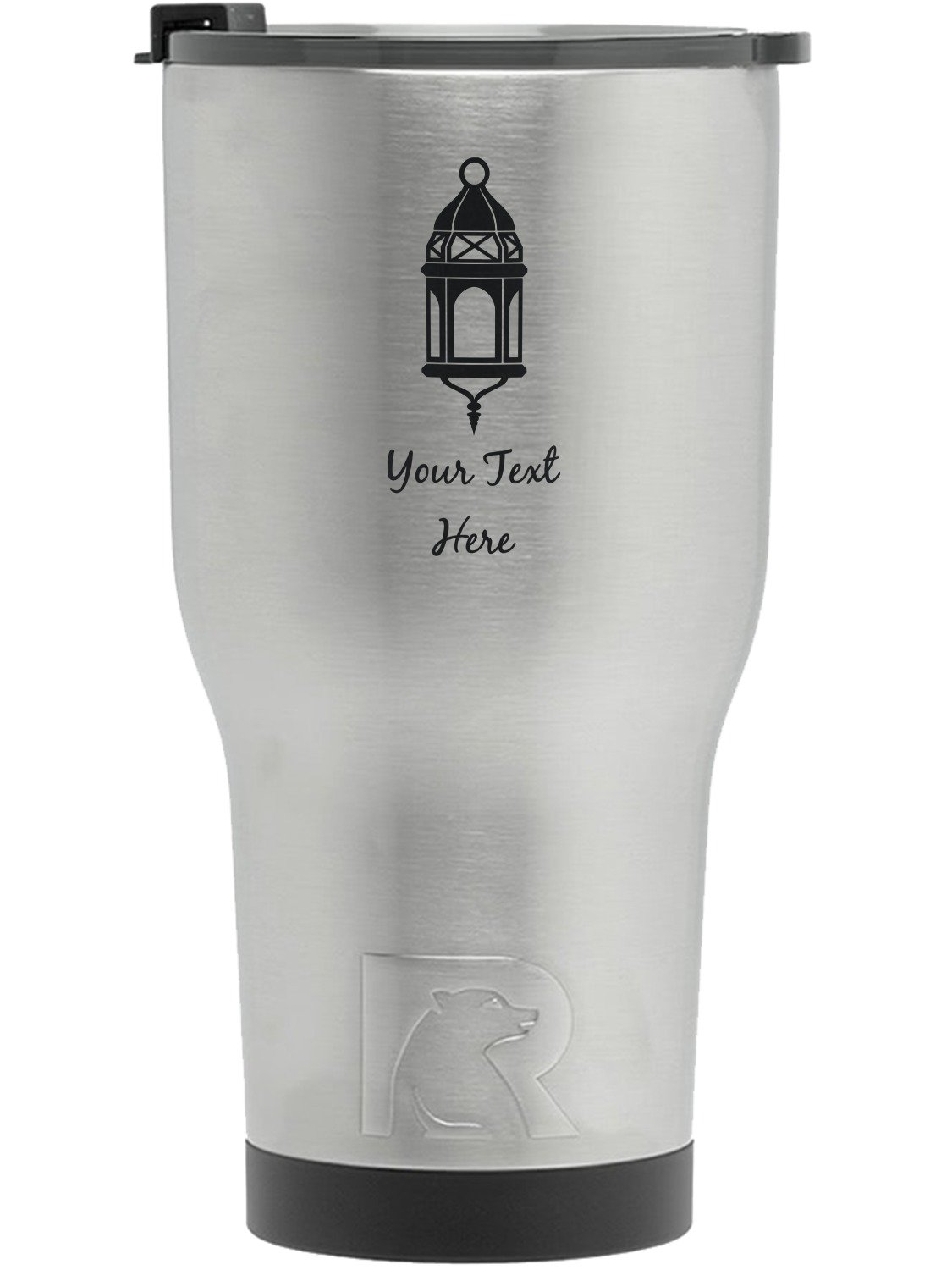 Moroccan Lanterns RTIC Tumbler - Silver - Engraved Front (Personalized)