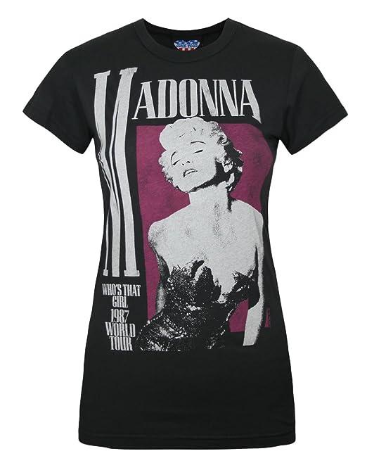 Junk Food Mujeres Clothing - Madonna - Camiseta: Amazon.es: Ropa y accesorios
