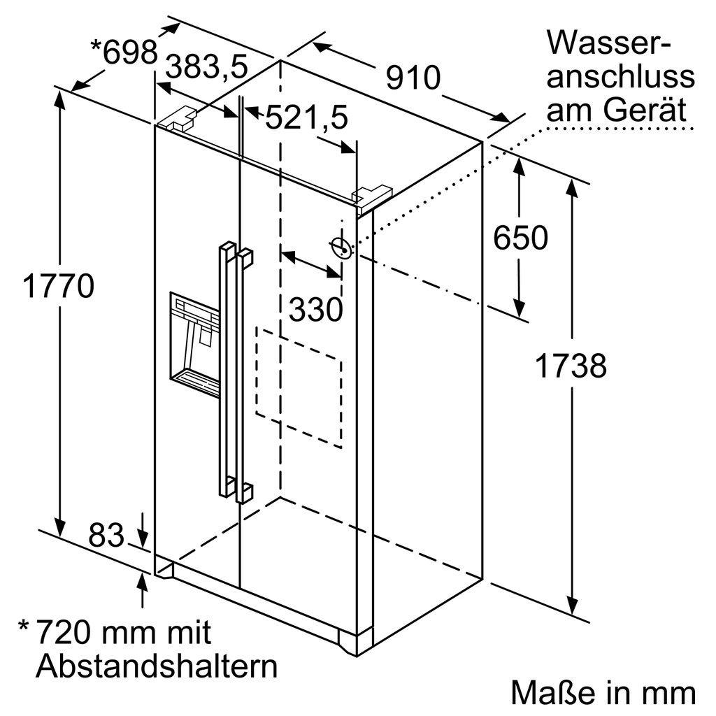 Bosch KAD90VI30 nevera puerta lado a lado - Frigorífico side-by ...