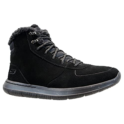 huge sale special for shoe elegant shape SK Mens Skechers Leather GOGA Max Warm Fur Biker Winter ...