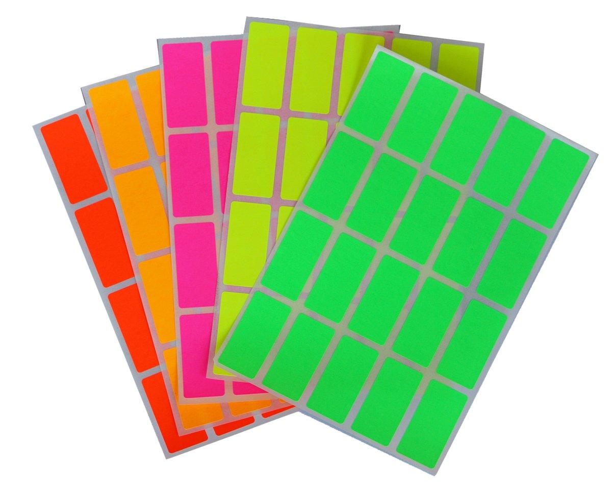 Etiketten Orange 40 mm x 19 mm rechteckige Sticker in verschiedenen Farben Gr/ö/ße 4 cm x 1,9 cm viereckige Aufkleber 100 Vorteilspack von Royal Green