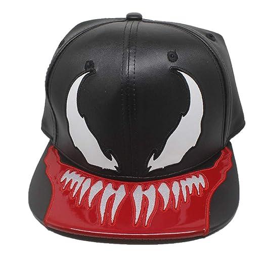 Xuzirui PU Leather Venom Spider Hats Snapback Cool Flat Hat Adjustable  Outdoor Sunhat Hip Hop Caps Halloween Party Props at Amazon Men s Clothing  store  753ec72dda28