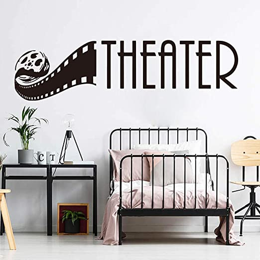 Amazon Com Wall Stickers Murals Home Theater Wall Decal Baby Nursery Bedroom Film Movie Cinema Home Theater Wall Sticker Living Room Vinyl Home Decor Art 85x23cm Kitchen Dining