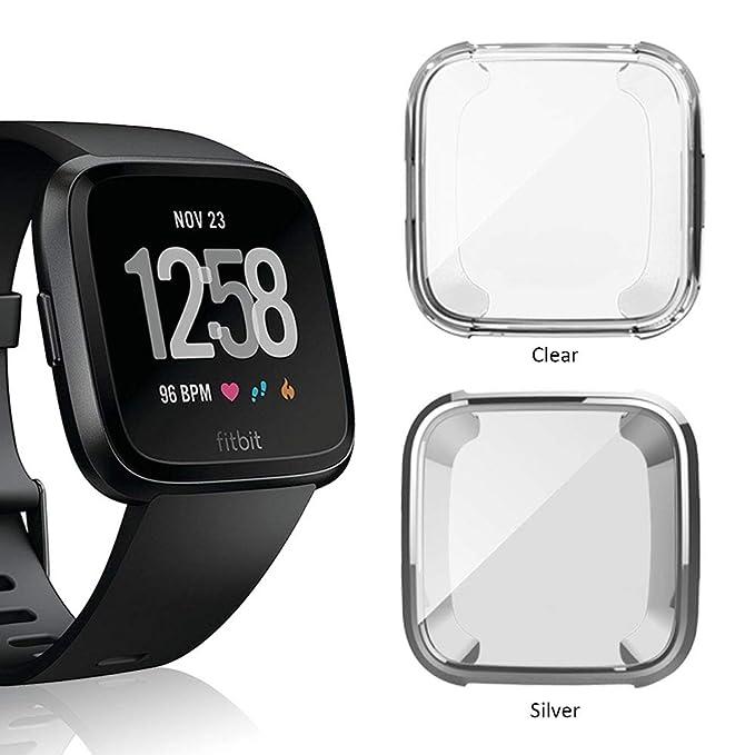 Belyoung - Carcasa de TPU para Fitbit Versa, Ajuste Fino ...