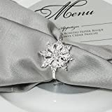 Napkin Rings for Holiday Parties, Weddings, and Events Bulk Napkin Holders –Totally Dazzled (100)