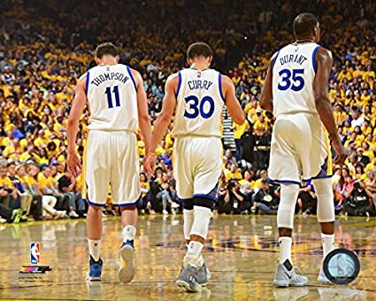ce2067190b21b Klay Thompson Stephen Curry Kevin Durant Golden State Warriors NBA Photo  (Size: 8