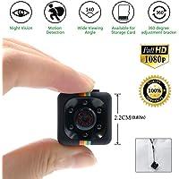 Mini kamera Spycam Full HD 1080p   Überwachungskamera Nanny Cam mit Bewegungserkennung und Infrarot Nachtsicht   Die kompakteste Versteckte Kameras für Innen und Aussen