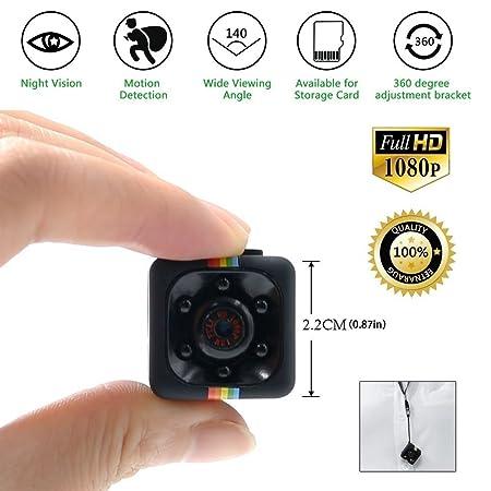 Mini kamera Spycam Full HD 1080p | Überwachungskamera Nanny Cam mit Bewegungserkennung und Infrarot Nachtsicht | Die kompakte