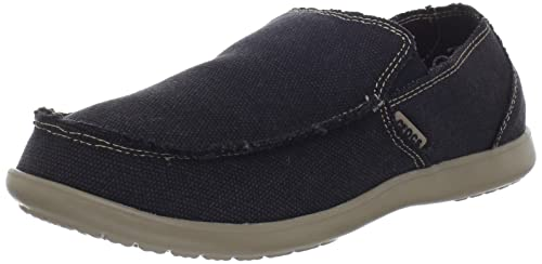 crocs Santa Cruz Men 10128 Santa Cruz - Mocasines de lona para hombre, color negro