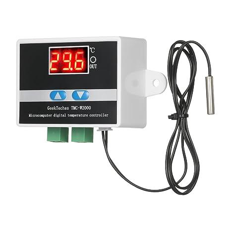 KKmoon TMC-W2000 AC110-220V Temperatura Controlador Lcd Digital Termostato Alto Precisión con Impermeable