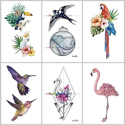 Tatuajes Temporales Niños Unicornio Tatuaje Falso De La Flor De ...