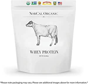 Natural Norcal Organic Grass Fed Whey Protein Powder (Unflavored)
