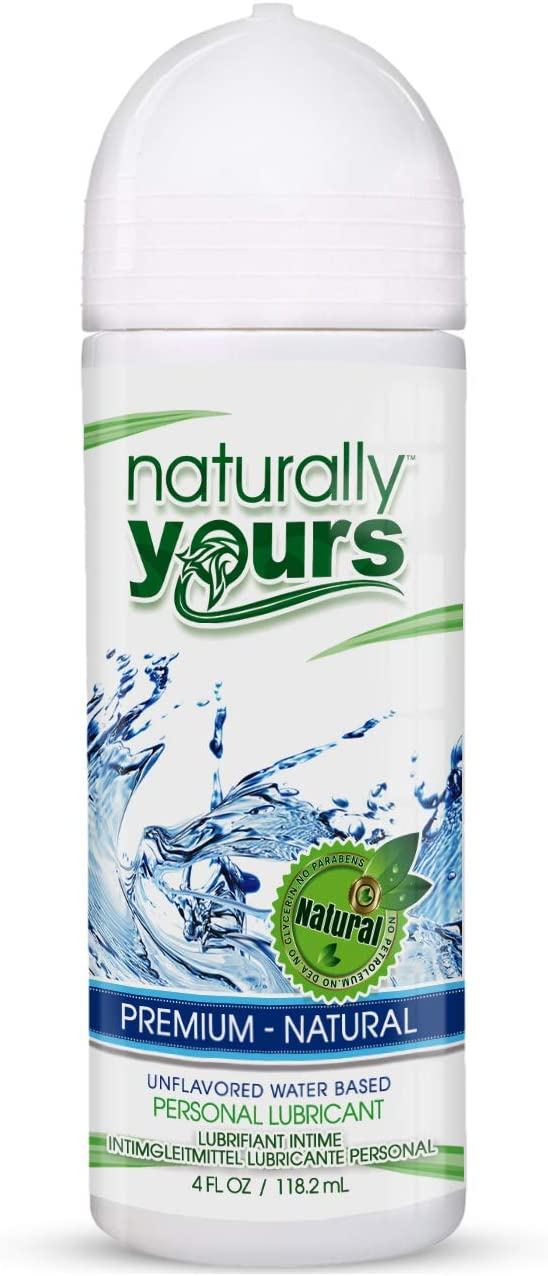Naturally Yours - Premium, Non Flavored, Natural Personal Lubricant 4 oz for Couples, Women & Men