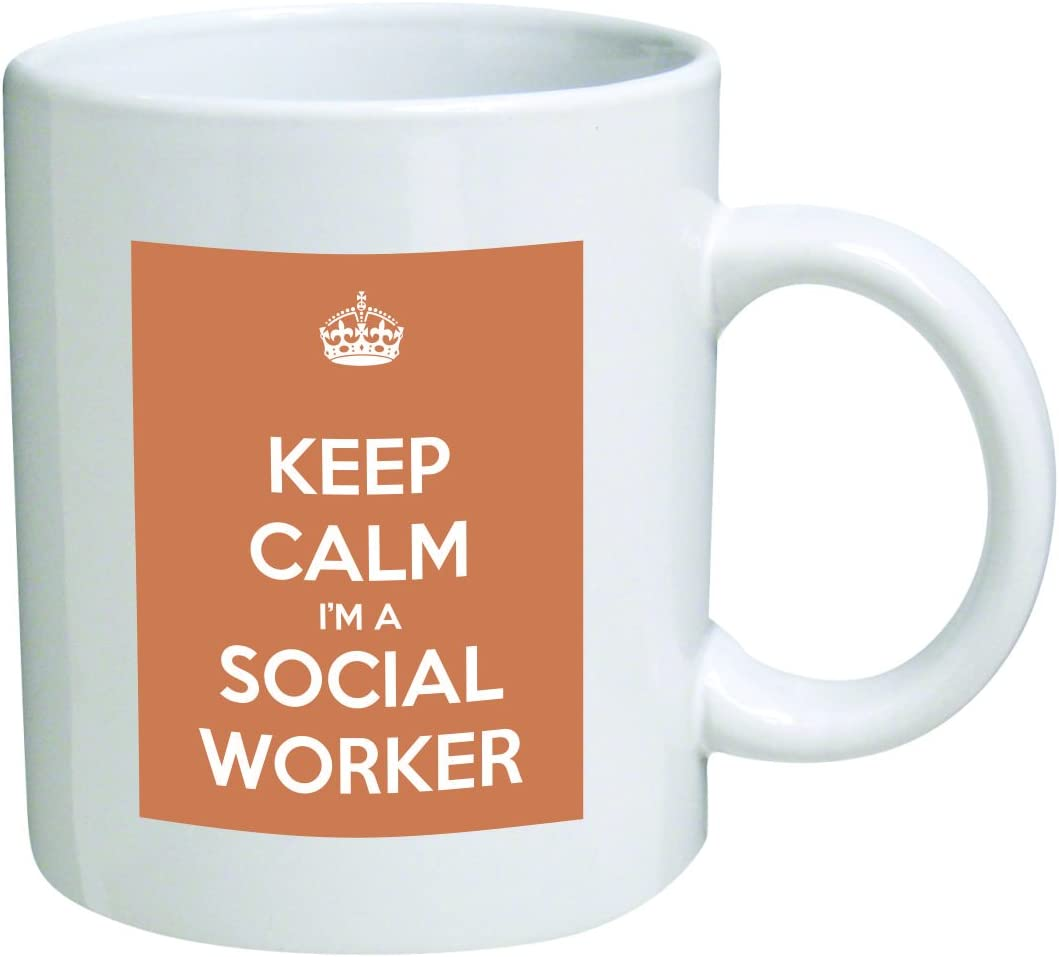 Keep Calm I'm A Social Worker Coffee Mug Great Office Novelty by Go Banners