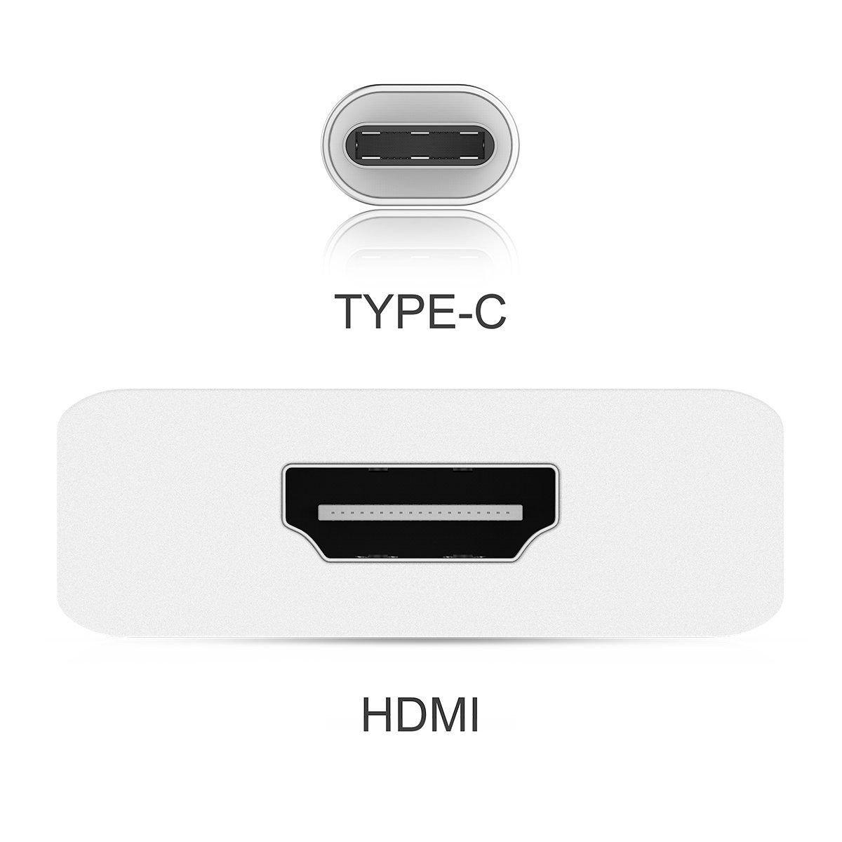 Compatible con Thunderbolt 3 Adaptador USB 2.0 Kimwood Tipo C a HDMI 4K CUHAWUDBA Adaptador USB C a HDMI para Galaxy S8 // S8 Plus//Note 8 Macbook Macbook Pro iMac Chromebook Pixel DELL XPS 15