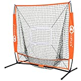 Goplus 5'×5' Baseball Practice Net Softball Hitting Batting Training Net Bow Frame w/ Bag