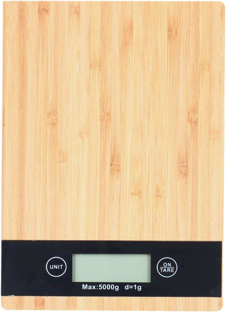 Digital Food Kitchen Scale| Bamboo Panel Electronic Digital Kitchen Scale| LCD Screen Display| Multifunction Weight Scale Measures in GM/LB/OZ/KG