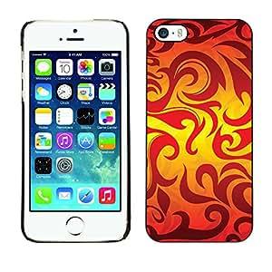 Print Motif Coque de protection Case Cover // V00002494 sin patrón, con las llamas // Apple iPhone 5 5S 5G