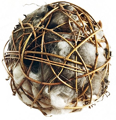 Bird Nesting Globe Filled with Alpaca Fleece - All Natural, Hand Made in Montana (6
