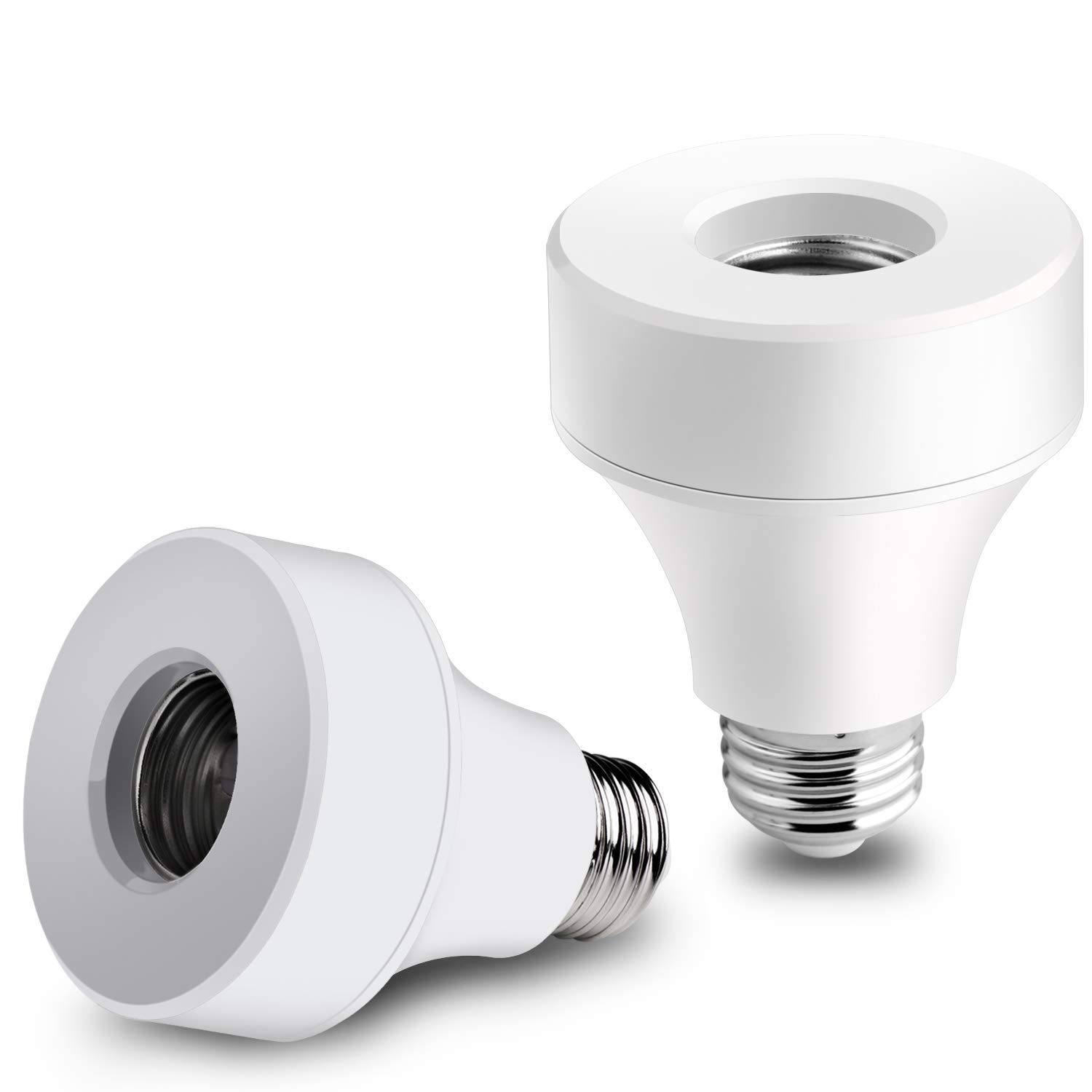 Innens Wifi Smart Bulb Socket Compatible with E26 E27, WiFi Light Bulb Base Adapter Compatible with Alexa/Google Home/IFTTT, No Hub Required (2)