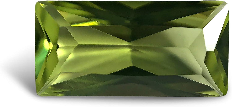 Peridot Light #152. Baguette 10x5 mm. 1,4 quilates Piedra preciosa suelta de imitación de siamita