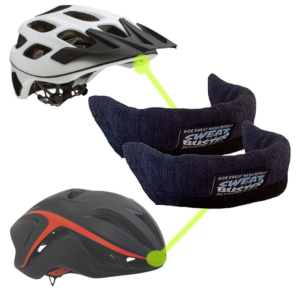 Sweat Buster Helmet Sweatband Road Cycling MTB Simple Removal for Washing Mountain Climbing or Any Shell Type Helmet Extra Comfortable /& No Drips