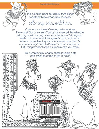 Amazon.com: Cats in Hats: A Peaceful Artist Coloring Book ...