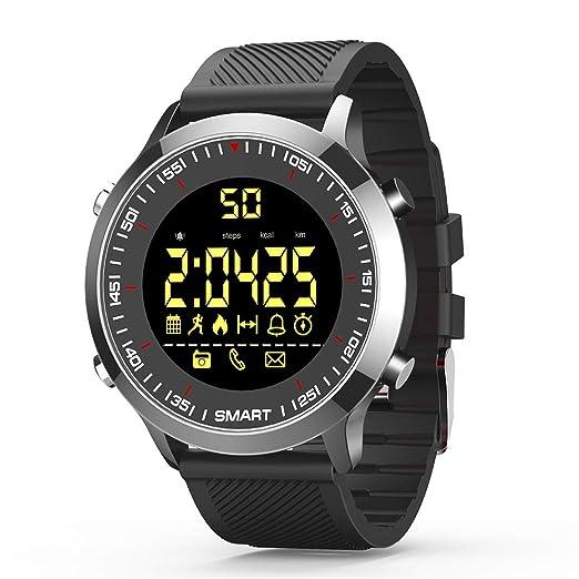 Relojes Inteligentes Reloj de Pulsera con Bluetooth Rastreador de Actividad Cronómetro Alarma Smartwatch para Hombre Mujer